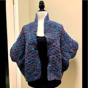 Handmade wool shrug with pockets - gorgeous!